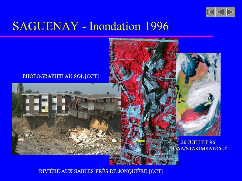 SAGUENAY - Inondation 1996 PHOTOGRAPHIE AU SOL [CCT] 20 JUILLET 96